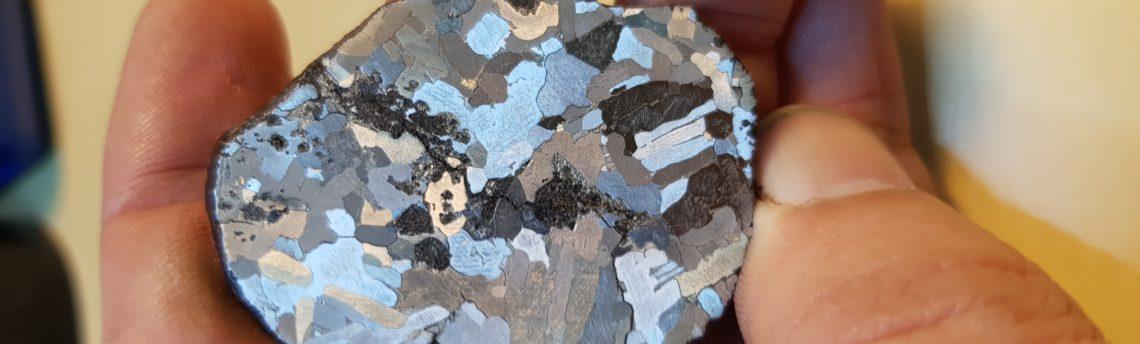 Ецване на железен метеорит.